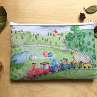 Zoe's forest small train felt storage bag