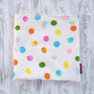 Watercolor double-button green food bag on white