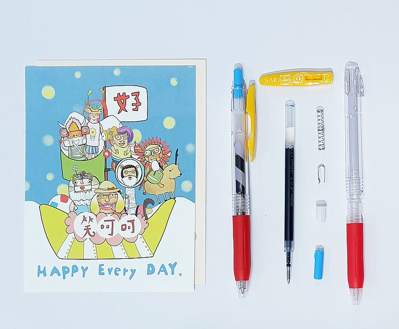 【ワークショップ】Make your own SARASA ball pen plus 2 postcards