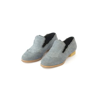 ZOODY / spray / handmade shoes / flat-bottom trimming loafers / blue