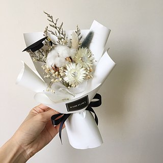 Natural bouquet of natural cotton small bouquets