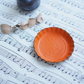 Orange biscuits) Accessories small leather tray