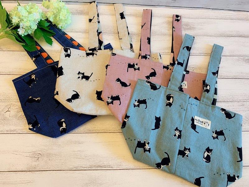 貓咪百態二杯袋/手提袋/萬用袋