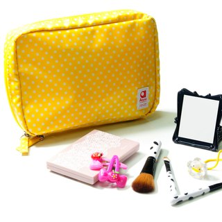 Mizutama beauty Travel cosmetics pouch with detachable pockets - Yellow