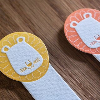 Letterpress letterpress print animal bookmark lion bookmark two booksmark