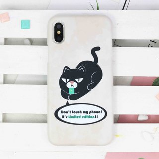 Don't touch my phone Cat hard Phone Case iPhone 8 8 plus X 7 6 S9 S8 S7