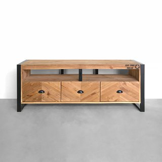 Fish bone fight three pumping TV cabinet CU044