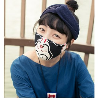 Xiong Xiao Hei Wang Wang Ji Ji Xiong Ben style 4 optional hand-painted cartoon mask cotton breathable printing