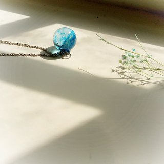 Blueberry jelly - crystal ball clavicle necklace silver chain gift free packaging limited edition goods