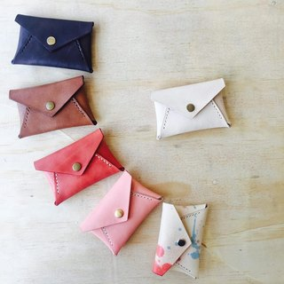 Original color envelope type purse leather vegetable tanned leather flash drive storage sniffing leather hand made
