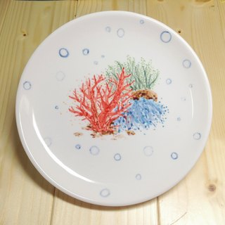 Coral - [Spot] hand-painted 6-inch cake porcelain plate