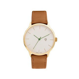 Khorshid Series - Nawroz Gold Dial Honey Brown Leather Watch