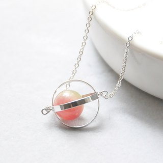 Symphony planet. universe. Silver ring. Watermelon Bi 壐. Necklace Color-Shift Planet. Galaxy. Sliver Ring. Tourmaline. Necklace. birthday present. Girlfriend gift. Sister gift