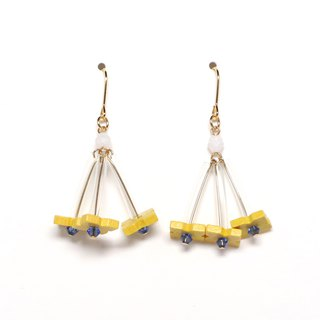 rumba - yellow beads earrings / earrings