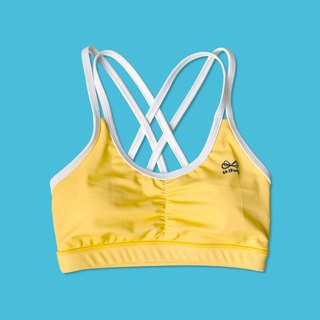 Mello yellow strappy bras