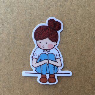 """Art of fish"" character series of small waterproof stickers -SS0041"