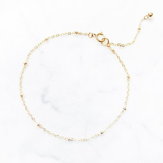 . Material upgrade revision. :: Golden Christmas :: Mini Gold Ball 14kgf Fine Bracelet