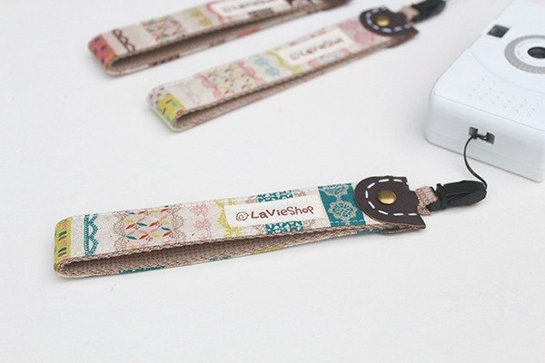 Lace X Masking tape (Aquamarine blue) 25mm Handmade Camera strap / handstrap
