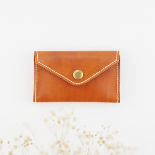 Envelope shape business card holder card case brown