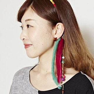 Pre-ordered wool felt smile headband (two colors) NMBZ7317