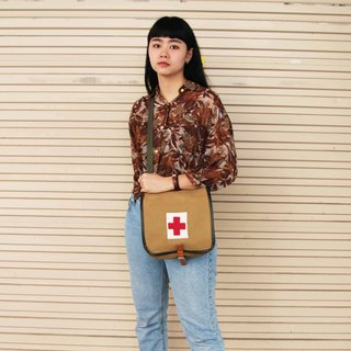 Tsubasa.Y Ancient House Polish Army Medical Bag, Military Bag Side Backpack Canvas Bag