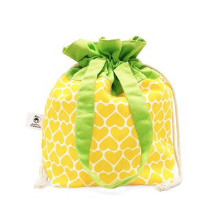 Ang Ku Kueh Girl's B.F.F. Drawstring Tote Bag (Pineapple) 水果系列 凤梨 抽绳包包