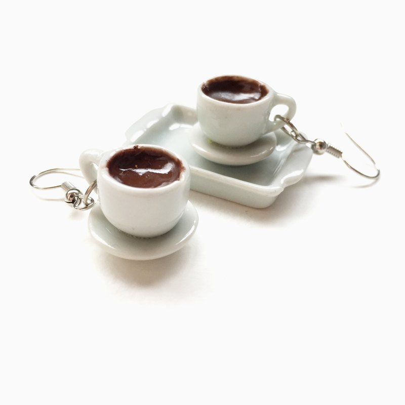 coffee earring