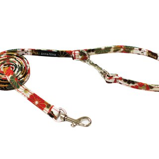 Pet leash fast buckle leash lucky white cat
