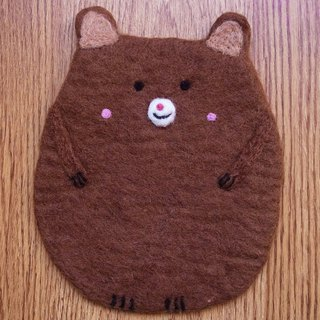 Potholder, Trivet, Pan Coaster, Pot holder, Felt Trivet Animal Bear