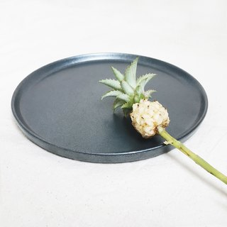 Hand made ceramic flower arrangement tray - matte black