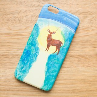 【IPhone / Android correspondence】 Smartphone case that I met a deer on a starry night