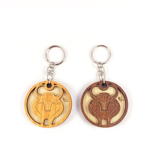 Woodcarving Keyring - 12 Chinese Zodiac (Cattle)