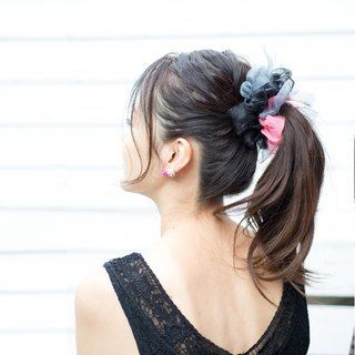 LOVE || Blooming Sakiami Colourful Hair Scrunchy || Hair Accessory / Hair Tie