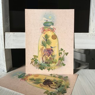 Taiwan Animals and Plants - Temperature Sensitive Color Card - Diamond Bottle Formosa Forever