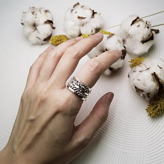 ART64 Workshop・Autumn limited theme event~Light and shadow swing sterling silver finger ring hand-made experience