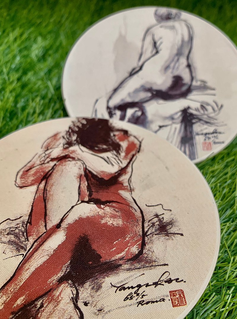 Yang Yingfeng's art sketching series extended sketch nude girl series coasters