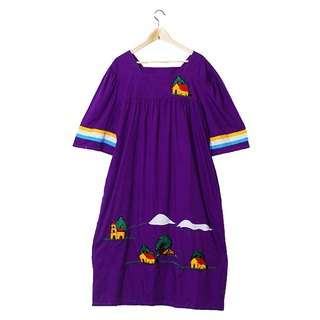 {::: Giraffe Giraffe :::} _ ㄩ collar pastoral cottage Mexican embroidery ancient dress