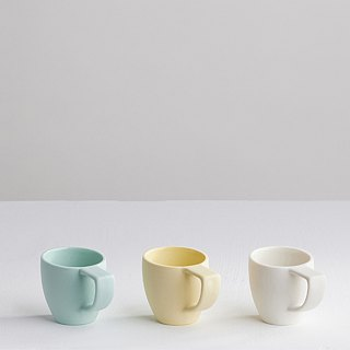 【3, co】 Ocean oblique cup (three color group) - white + yellow + green