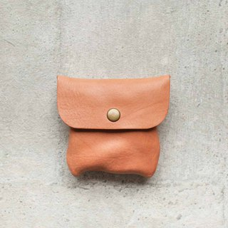 Small veg-tanned leather coin card wallet