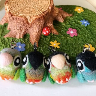 Wool felt bird parrot charm - mini treasure fun bird treasure next single area please send me a message