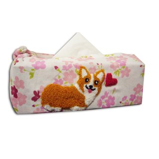 Corgi Japanese Wrapping Cloth for Tissue Box