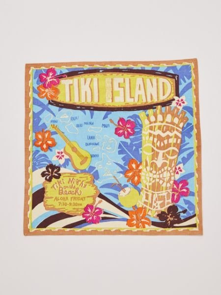 【Pre-order】 ✱ Hawaii TIKI totem square ✱ (two-color) 4ISP7371