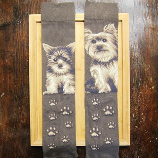 JHJ Design Canadian brand of high saturation knitting socks dog series Yorkshire (male) puppy dog ​​cute