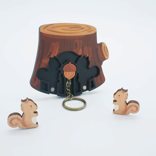 Key House Squirrel < Customizable Storage Decoration Gift X'mas >