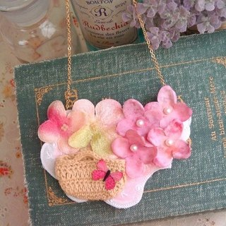 Garohands vintage pink hydrangea fairy feel gift of long chain A464 Department of Forestry
