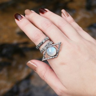 Ring RAINBOW MOON natural stone - THE SIGHT COLLECTION