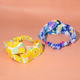 【The MAMA's Closet】Yellow Water Lily / Classic Headband