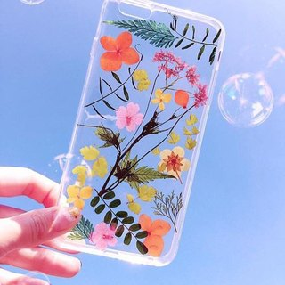 Play hard, enjoy the season! :: colourful pressed flowers phone case