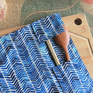 weimom's micro cloth Mans record: southern blue - pencil, chopstick sets, tableware bags, rolls, Christmas gift ● Made in Taiwan - Handmade Good