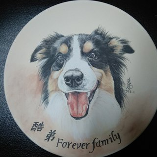 Customized glaze color pet painting porcelain plate